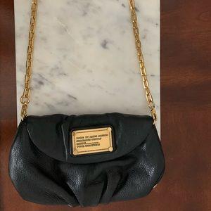Marc Jacobs Black Leather Cross-body Purse